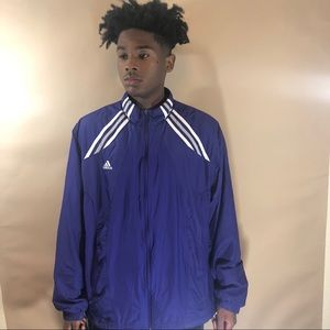 striped Adidas Windbreaker size Large